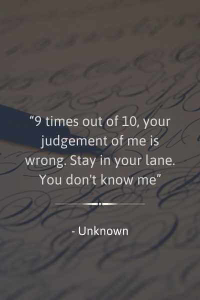 best stay in your lane quotes