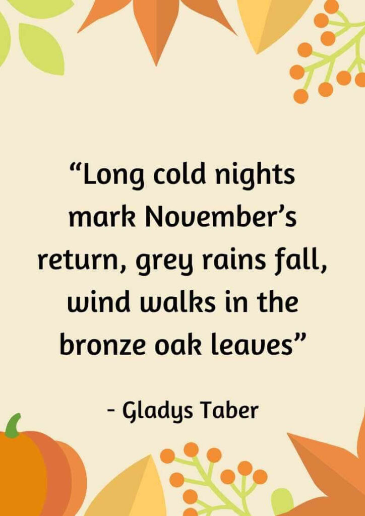 quotes about november month
