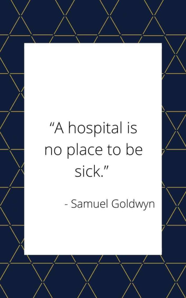admitted in hospital quotes