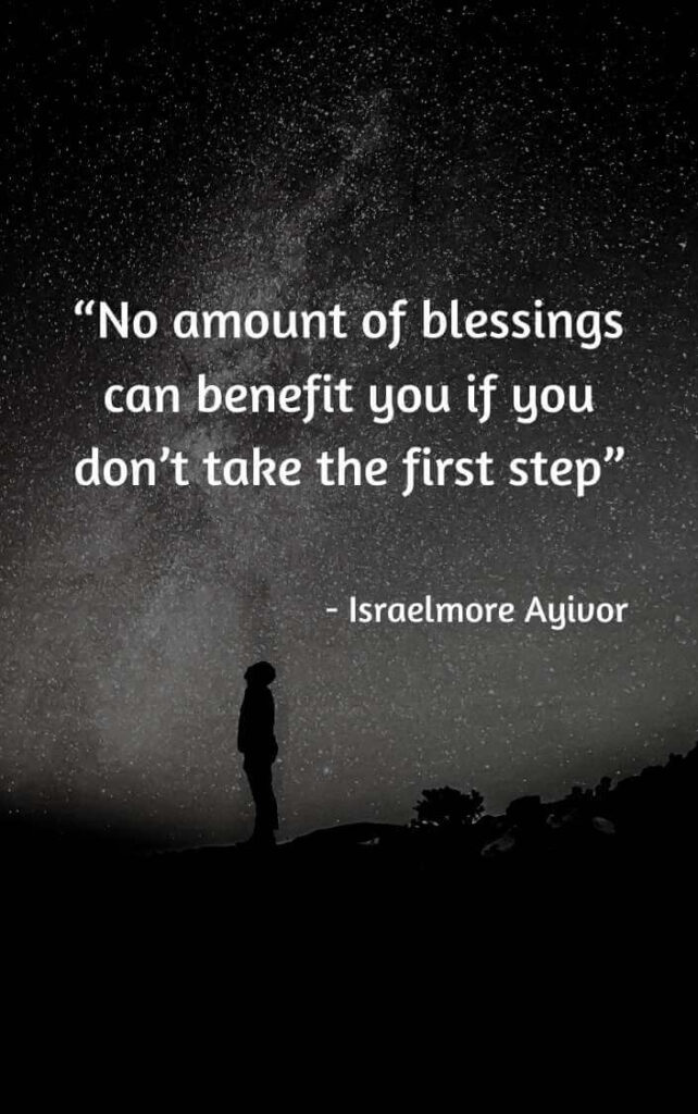 you have to take the first step quotes