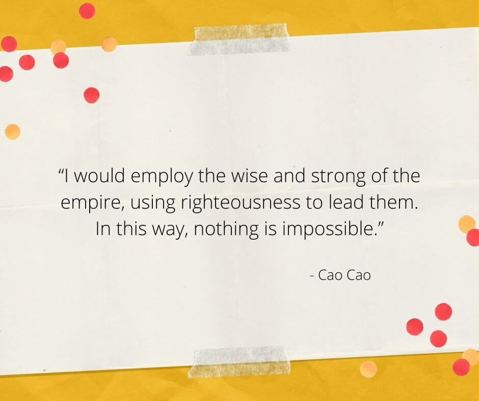 cao cao famous quote in chinese