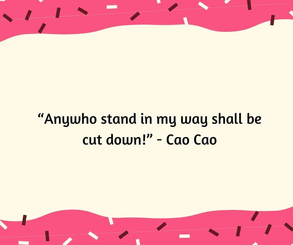 cao cao quotes and sayings
