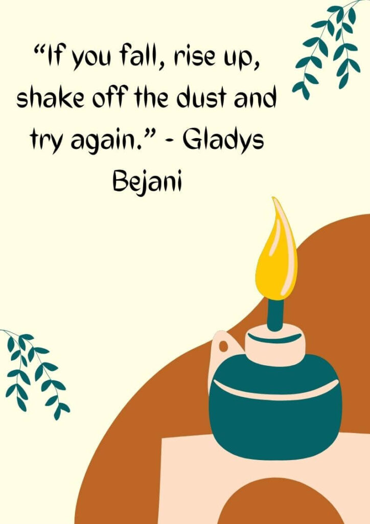 get back up and try again quotes