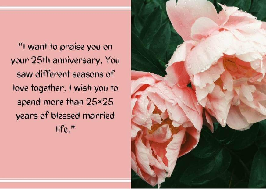 25th anniversary wishes for aunt and uncle