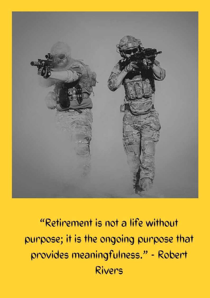 army military retirement quotes