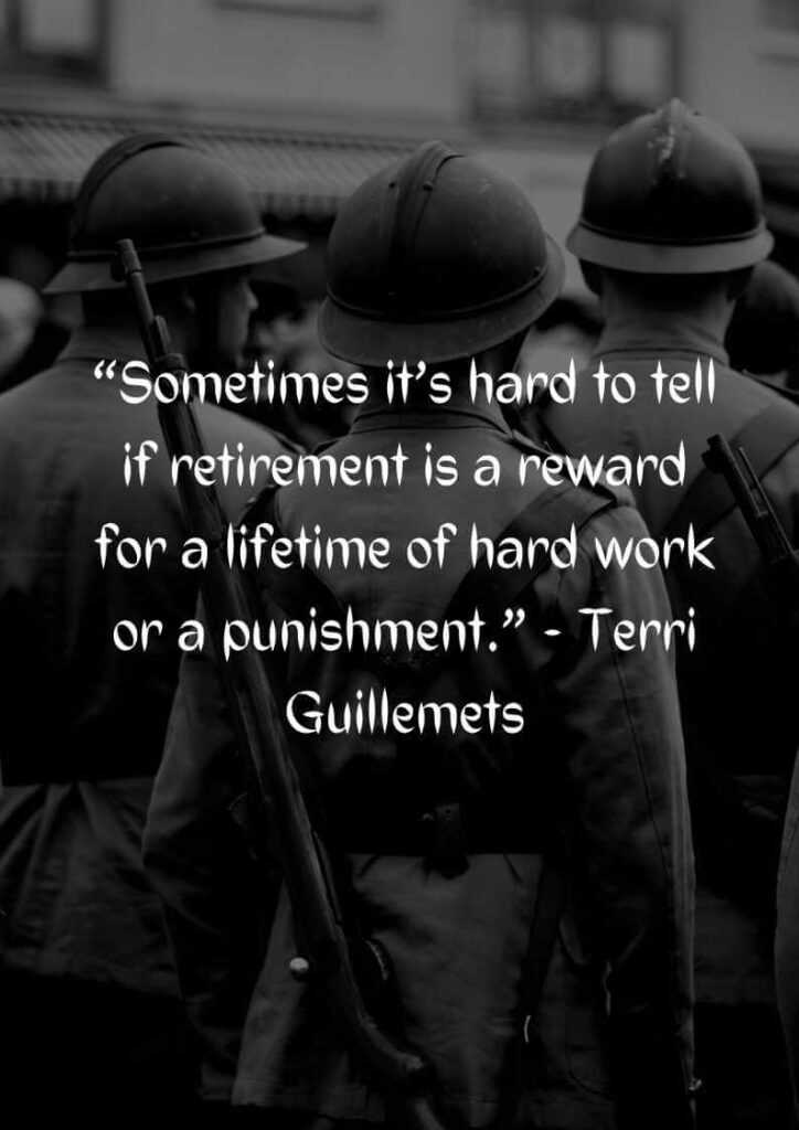 military retirement wishes quotes