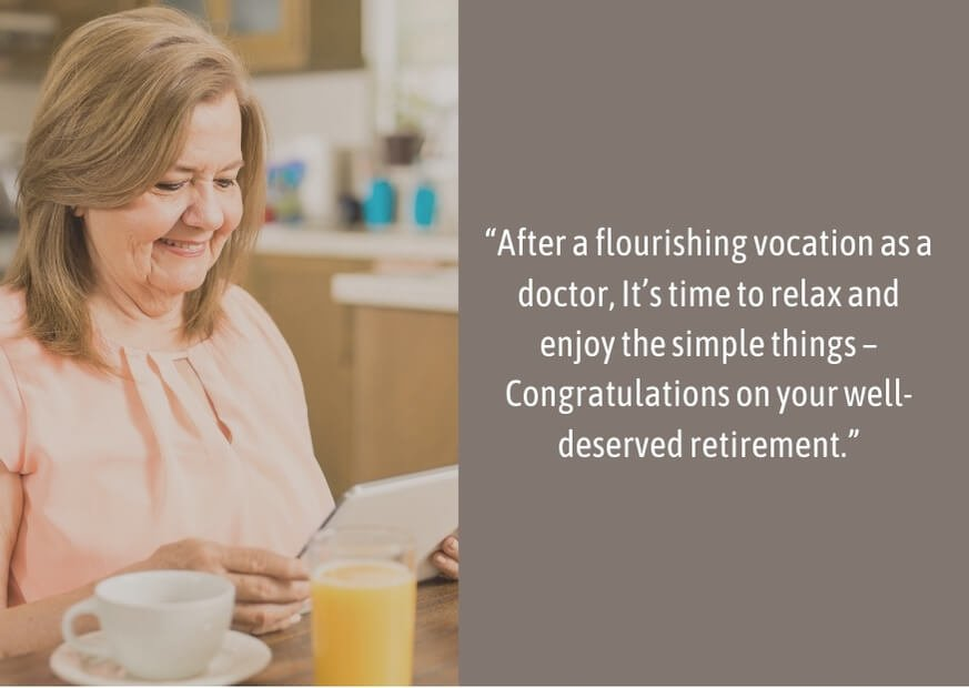 inspirational retirement quotes for doctors