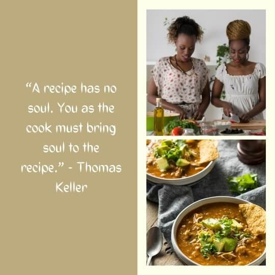 self cooking quotes images